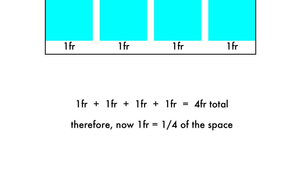 1fr 1fr 1fr 1fr + 1fr + 1fr + 1fr = 4fr total t...