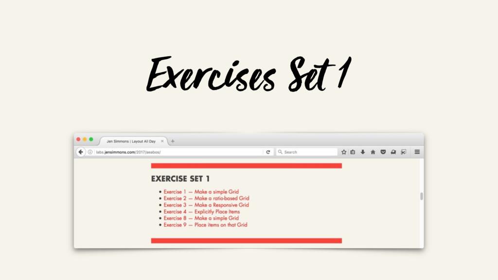 Exercises Set 1