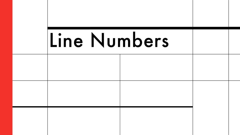 Line Numbers