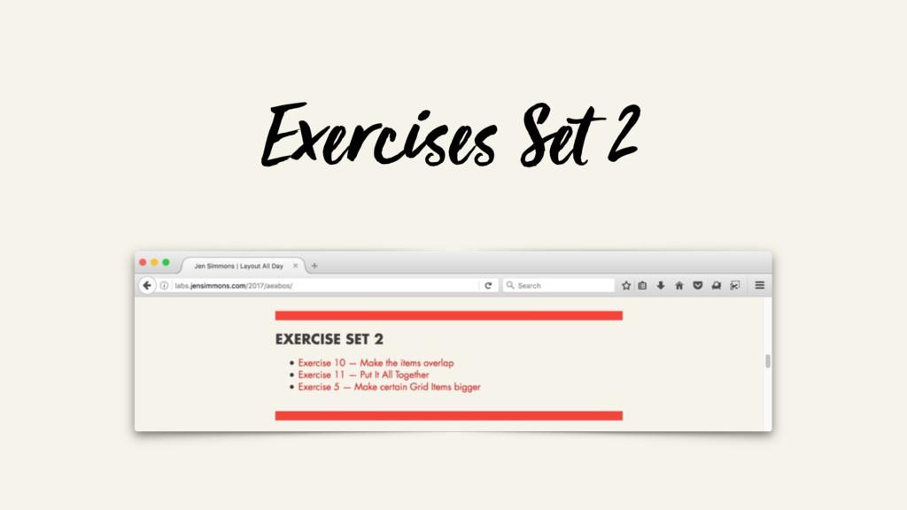 Exercises Set 2