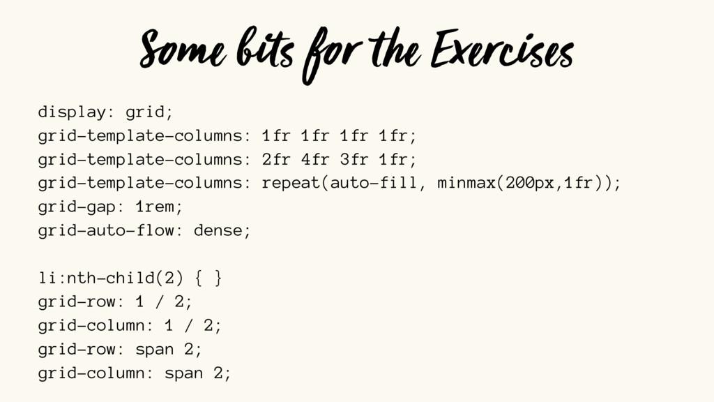 display: grid; grid-template-columns: 1fr 1fr 1...