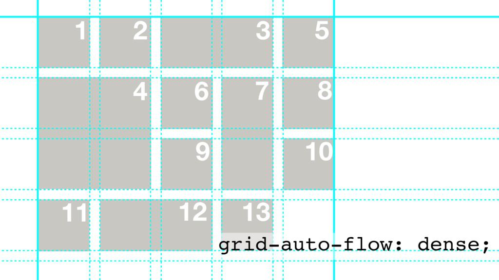 13 11 8 9 10 7 6 5 1 2 3 4 12 grid-auto-flow: d...