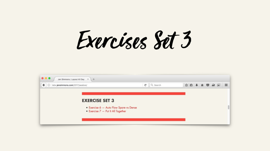 Exercises Set 3