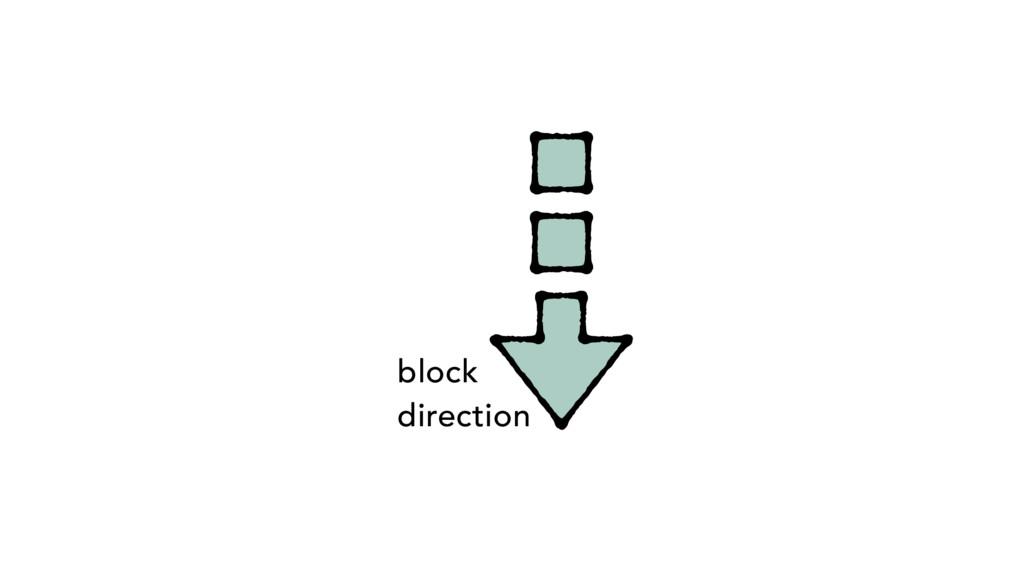 block direction
