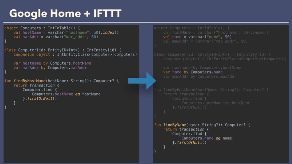 Google Home + IFTTT object Computers : IntIdTab...