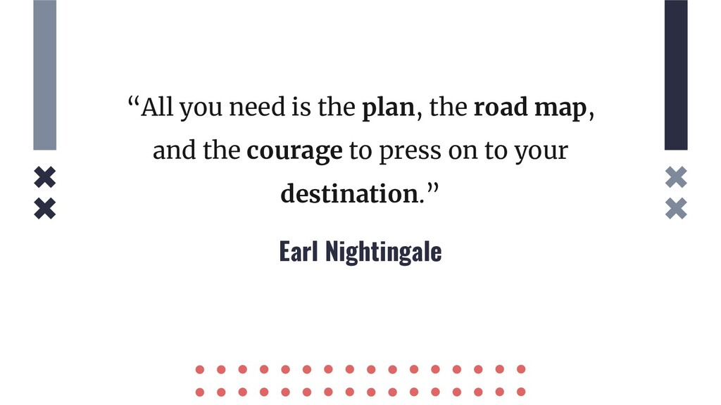 "Earl Nightingale ""All you need is the plan, the..."