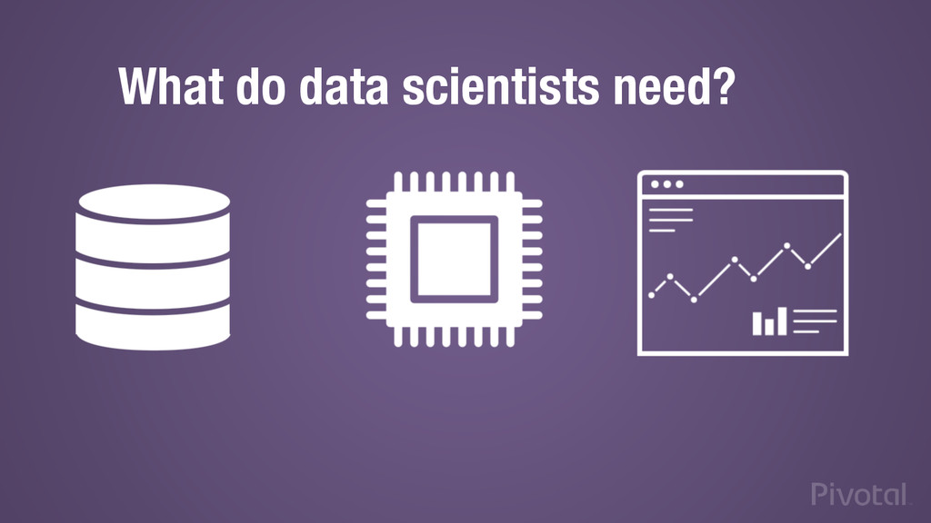 What do data scientists need?