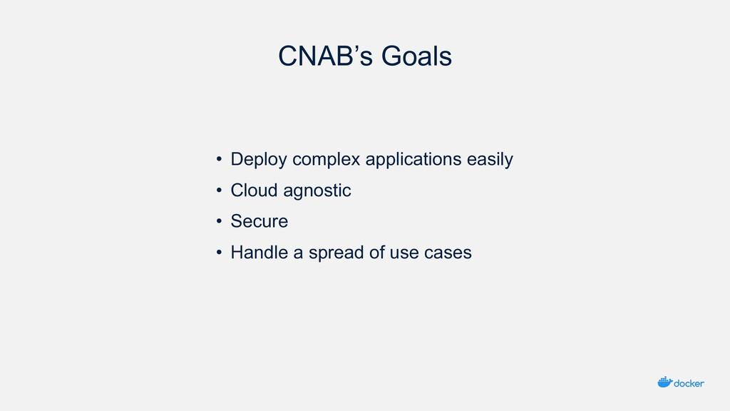 CNAB's Goals • Deploy complex applications easi...
