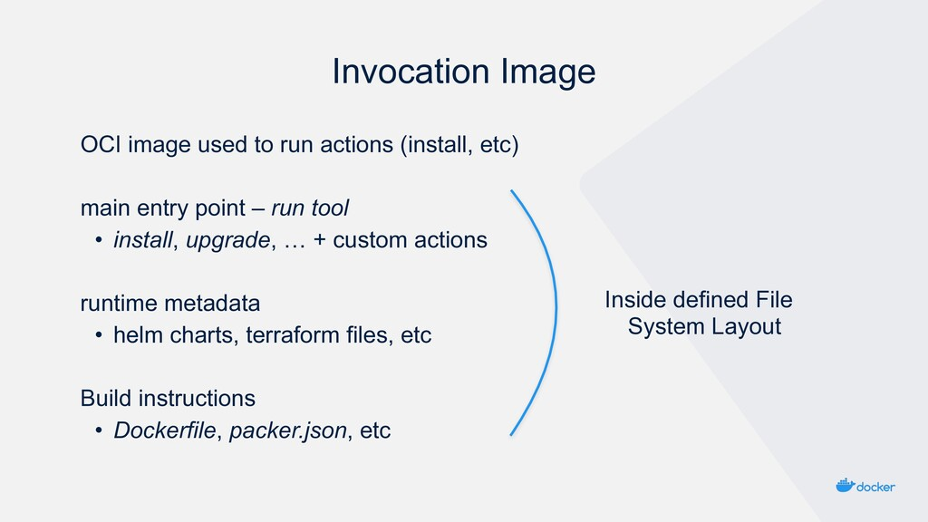 Invocation Image OCI image used to run actions ...