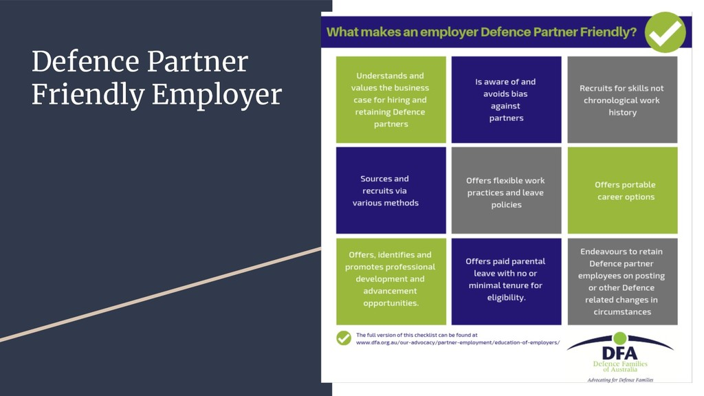 Defence Partner Friendly Employer