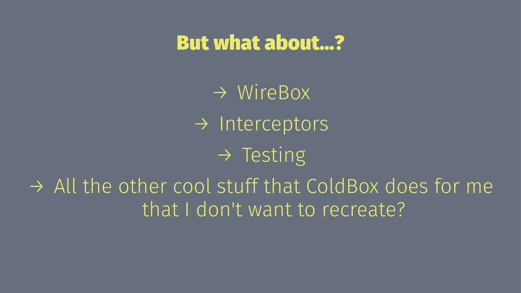 But what about...? → WireBox → Interceptors → T...