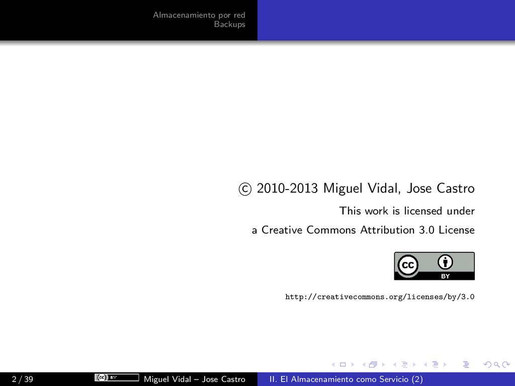 Almacenamiento por red Backups c 2010-2013 Migu...
