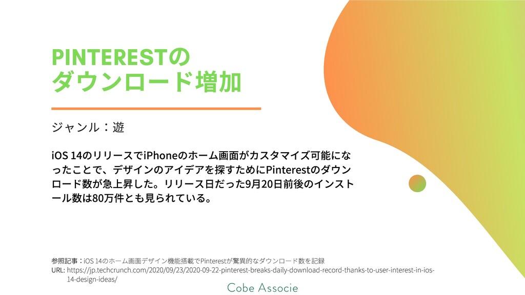 PINTEREST の ダウンロード ジャンル iOS14のリリースでiPhoneのホーム画...