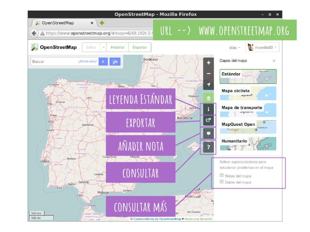 url --> www.openstreetmap.org exportar consulta...