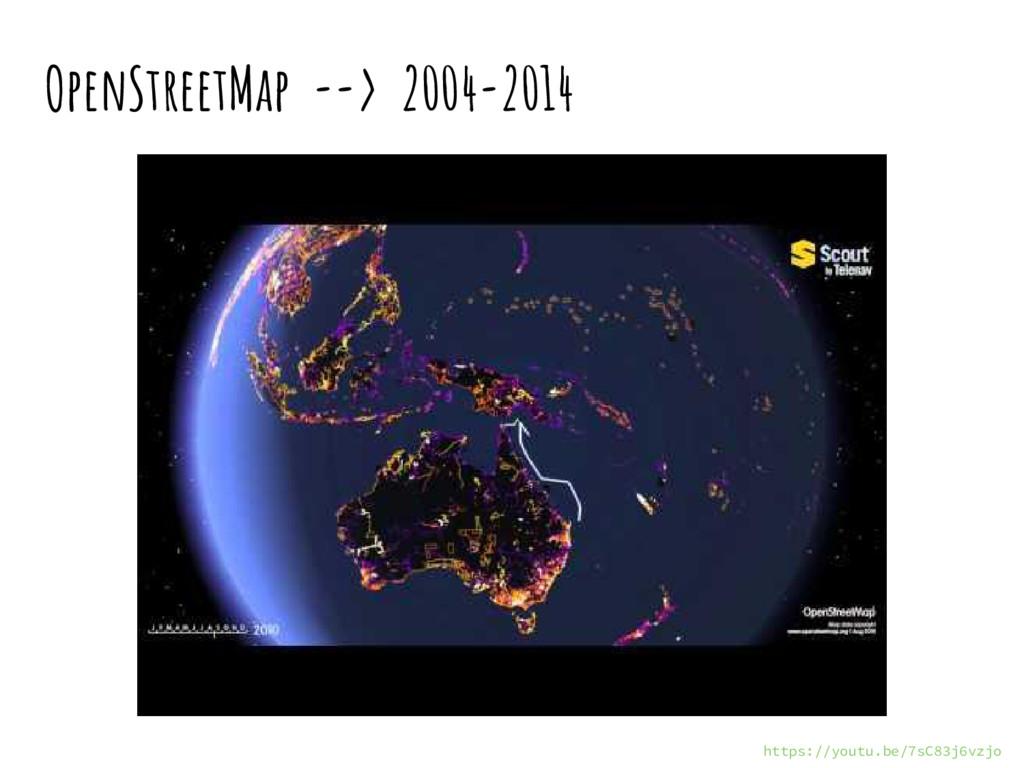 OpenStreetMap --> 2004-2014 © Colaboradores de ...