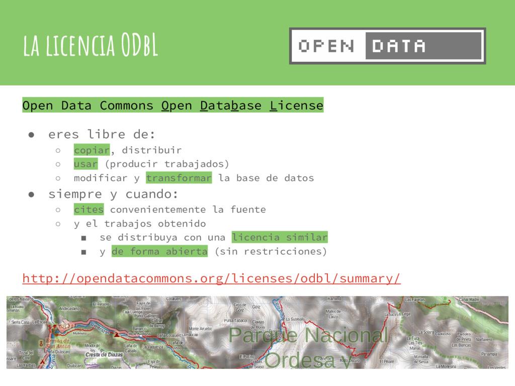 la licencia ODbL Open Data Commons Open Databas...