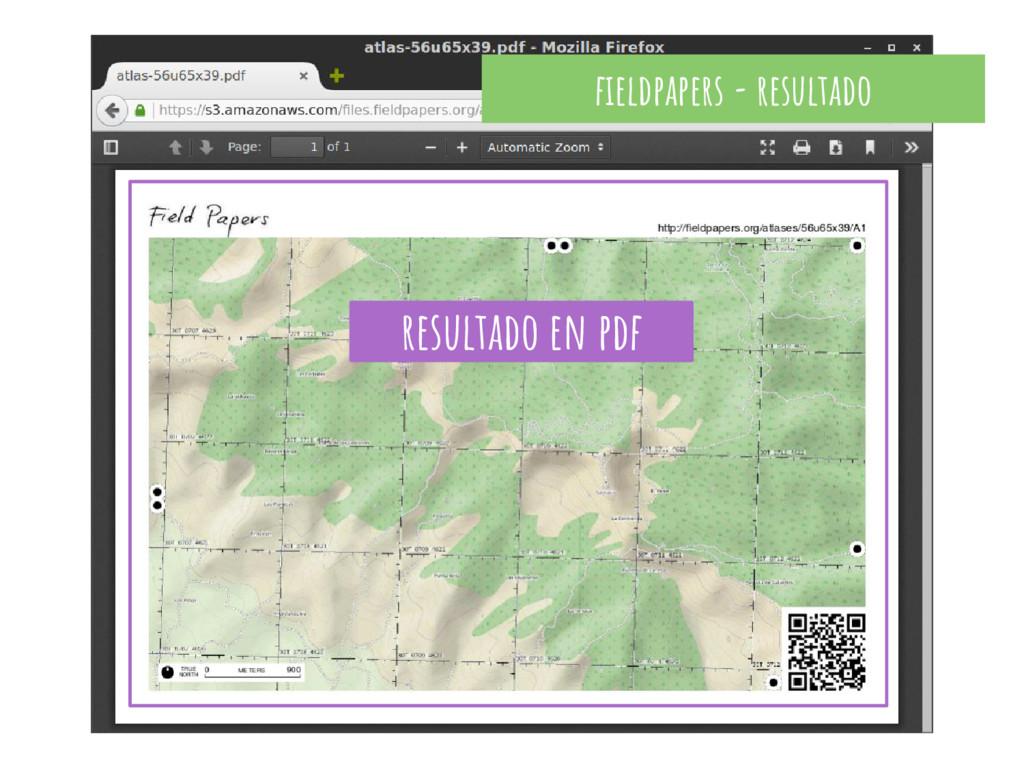 fieldpapers - resultado resultado en pdf