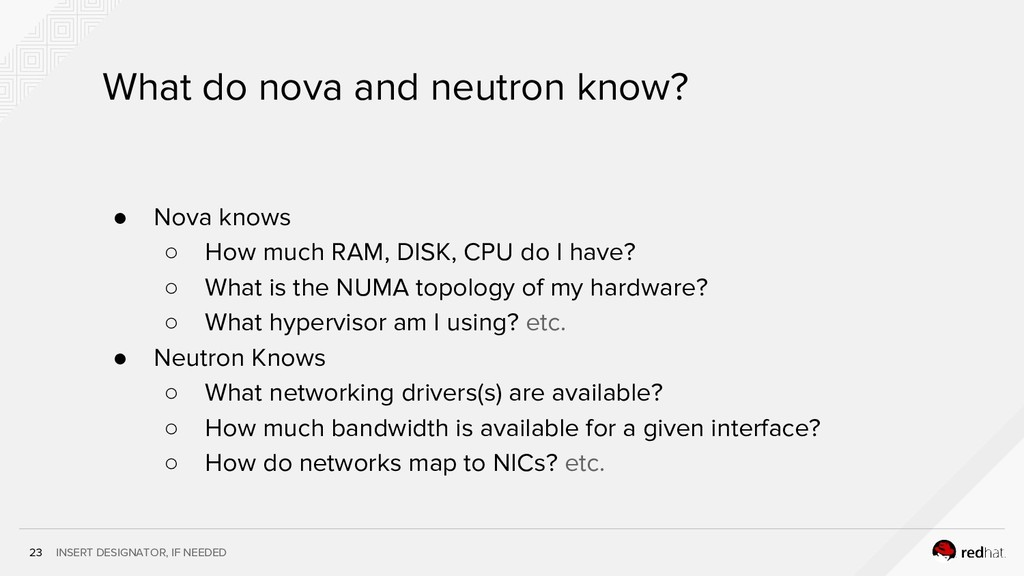 INSERT DESIGNATOR, IF NEEDED 23 What do nova an...