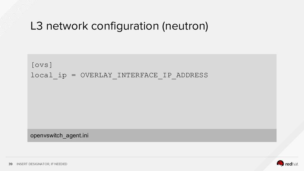 INSERT DESIGNATOR, IF NEEDED 39 L3 network conf...