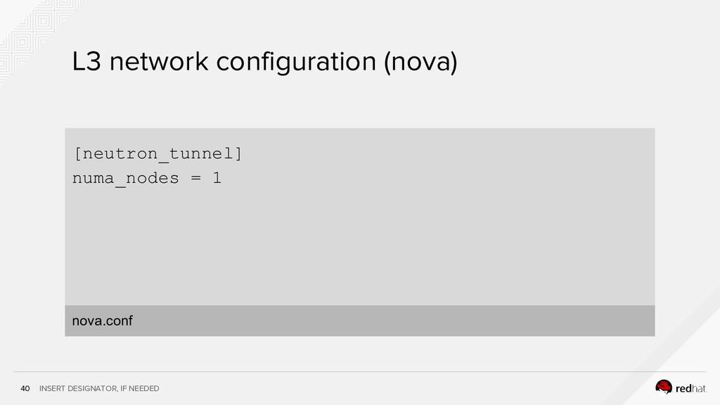 INSERT DESIGNATOR, IF NEEDED 40 L3 network conf...