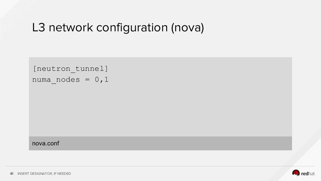 INSERT DESIGNATOR, IF NEEDED 41 L3 network conf...