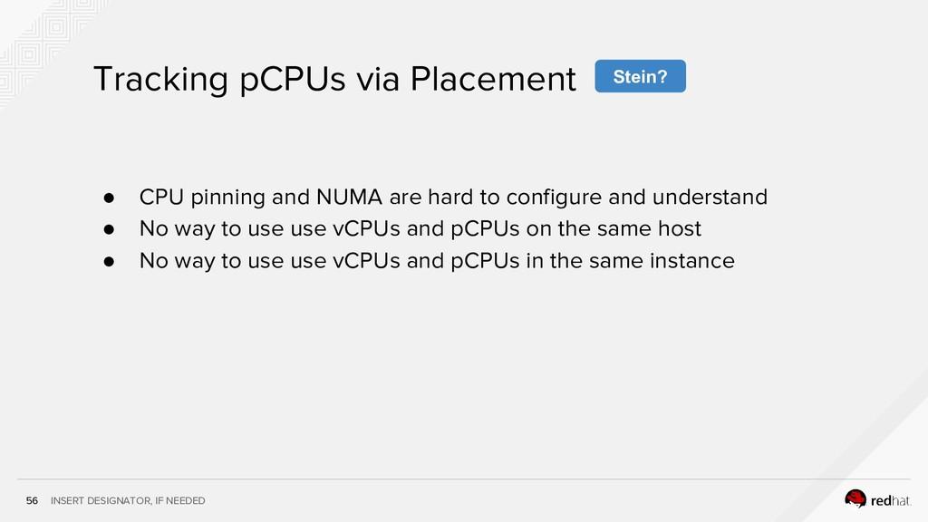 INSERT DESIGNATOR, IF NEEDED 56 Tracking pCPUs ...