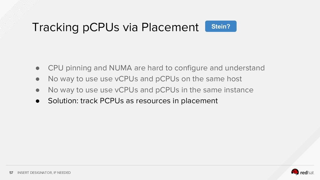 INSERT DESIGNATOR, IF NEEDED 57 Tracking pCPUs ...