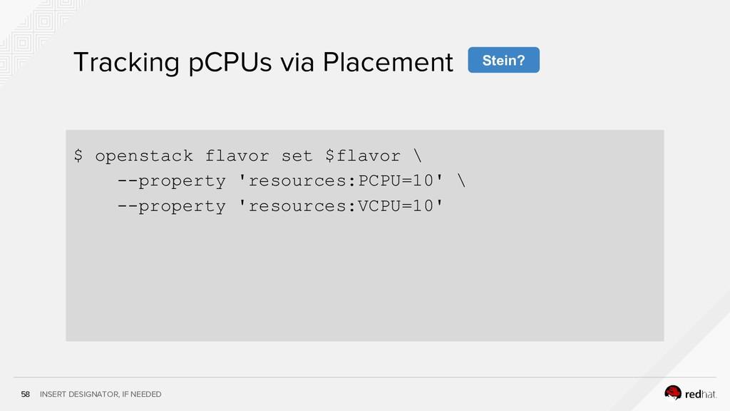 INSERT DESIGNATOR, IF NEEDED 58 Tracking pCPUs ...