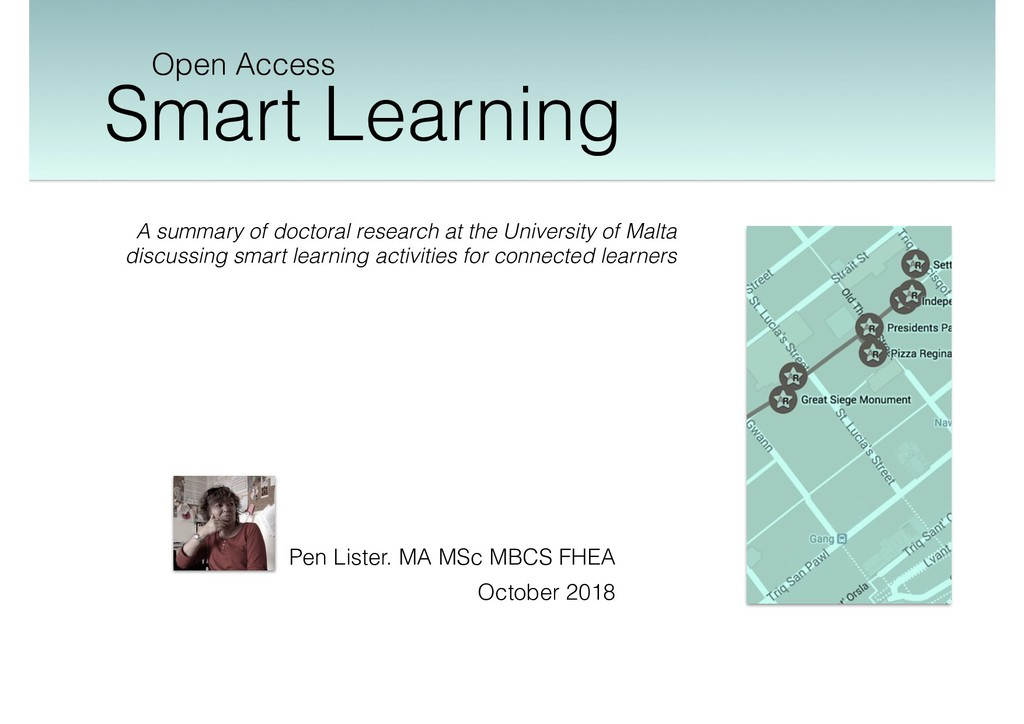 Smart Learning Open Access Pen Lister. MA MSc M...