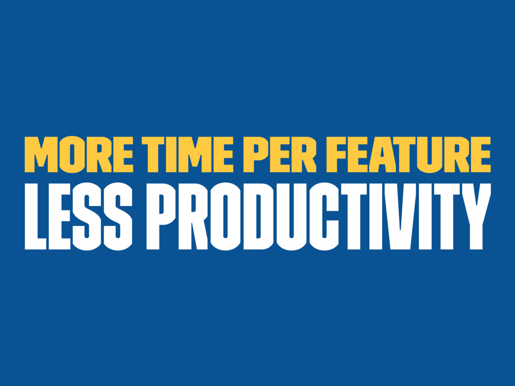 More time per feature less productivity