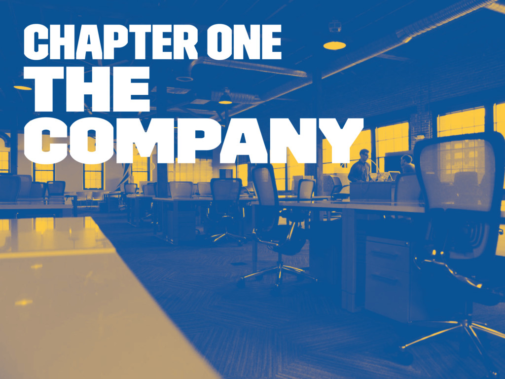 Chapter one The company