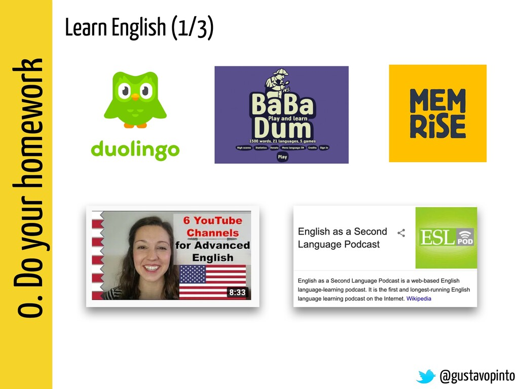 0. Do your homework Learn English (1/3) @gustav...