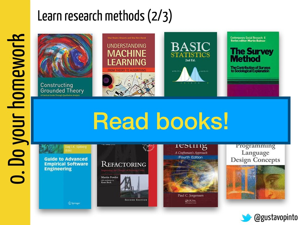 0. Do your homework Learn research methods (2/3...
