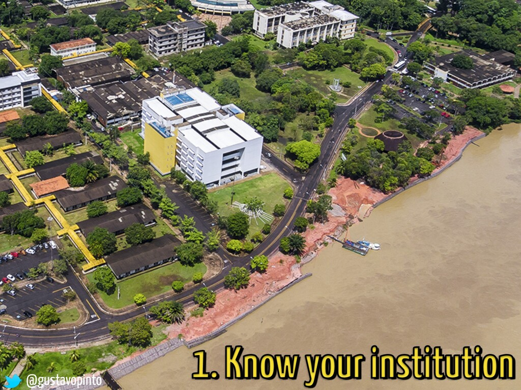 1. Know your institution @gustavopinto