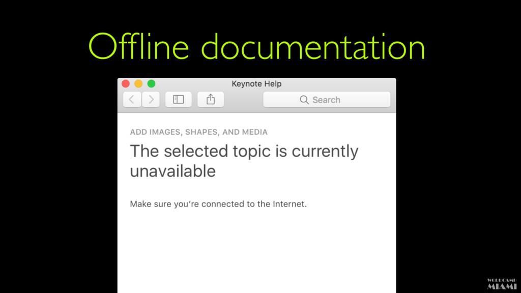 Offline documentation