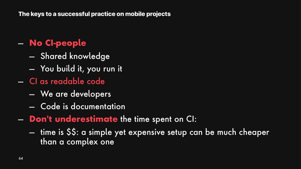 The keys to a successful practice on mobile pro...