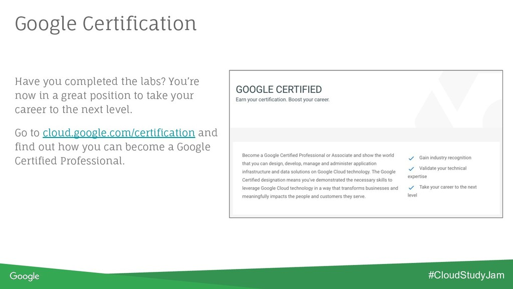 Google Certification Have you completed the lab...