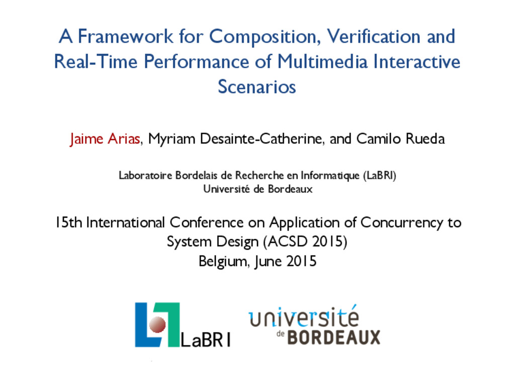A Framework for Composition, Verification and R...