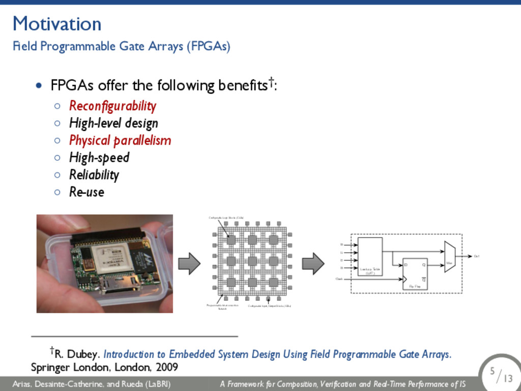 Motivation Field Programmable Gate Arrays (FPGA...