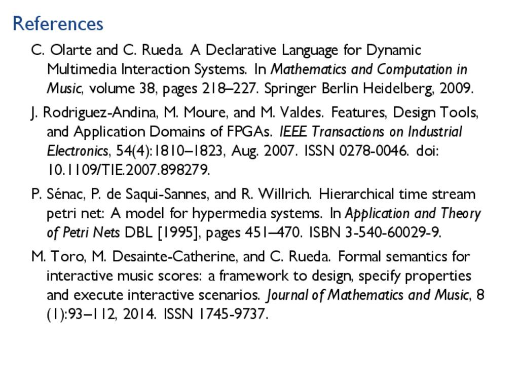 References C. Olarte and C. Rueda. A Declarativ...