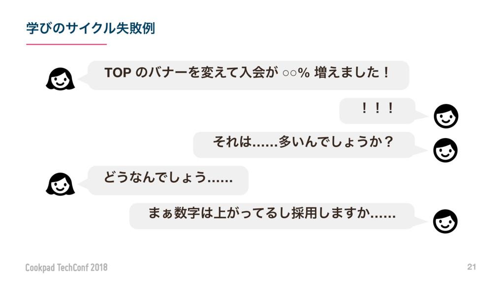 ֶͼͷαΠΫϧࣦഊྫ 21 TOP ͷόφʔΛม͑ͯೖձ͕ ○○% ૿͑·ͨ͠ʂ ʂʂʂ ͦΕ...