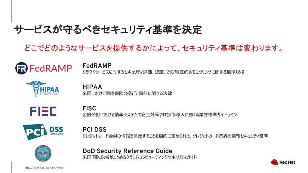 サービスが守るべきセキュリティ基準を決定 クラウドサービスに対するセキュリティ評価、認証、及び...