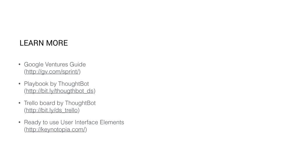 • Google Ventures Guide (http://gv.com/sprint/...
