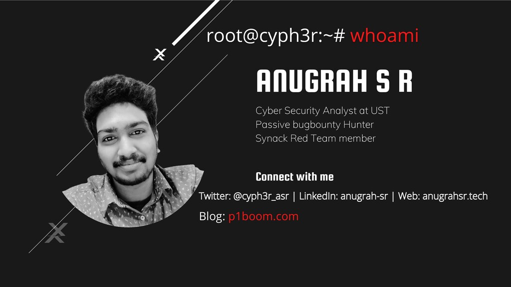 ANUGRAH S R Cyber Security Analyst at UST Passi...