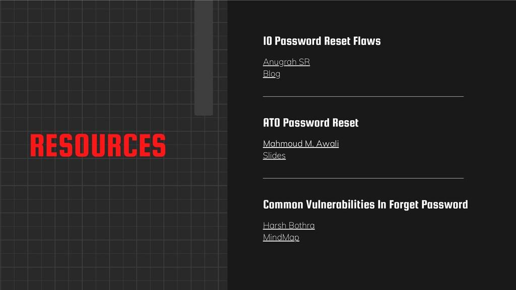 RESOURCES 10 Password Reset Flaws Anugrah SR Bl...