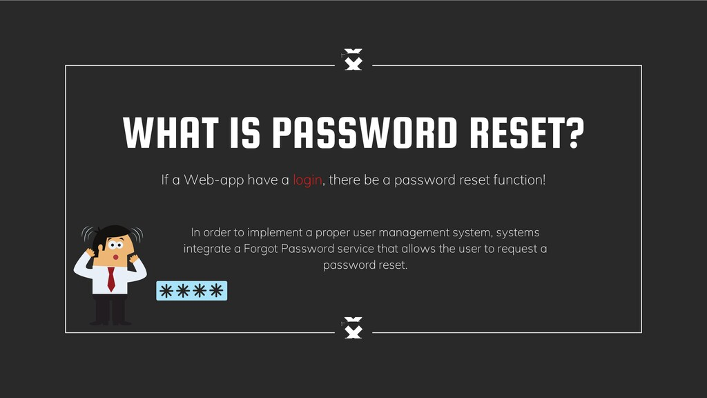 WHAT IS PASSWORD RESET? If a Web-app have a log...