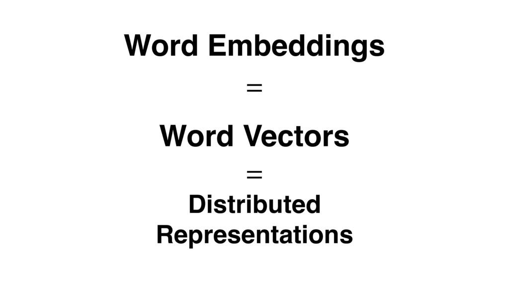 Word Embeddings Word Vectors Distributed Repres...
