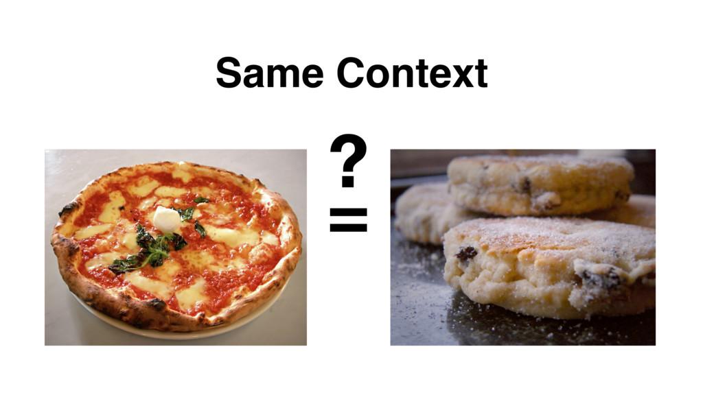 Same Context = ?