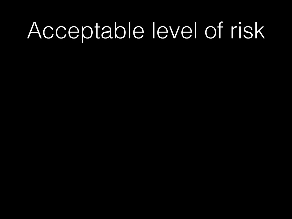 Acceptable level of risk